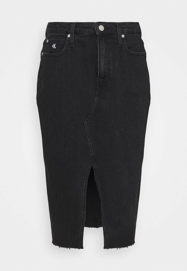 HIGH RISE MIDI  - Spódnica ołówkowa  - denim black