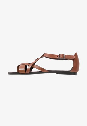 TIA - T-bar sandals - cognac