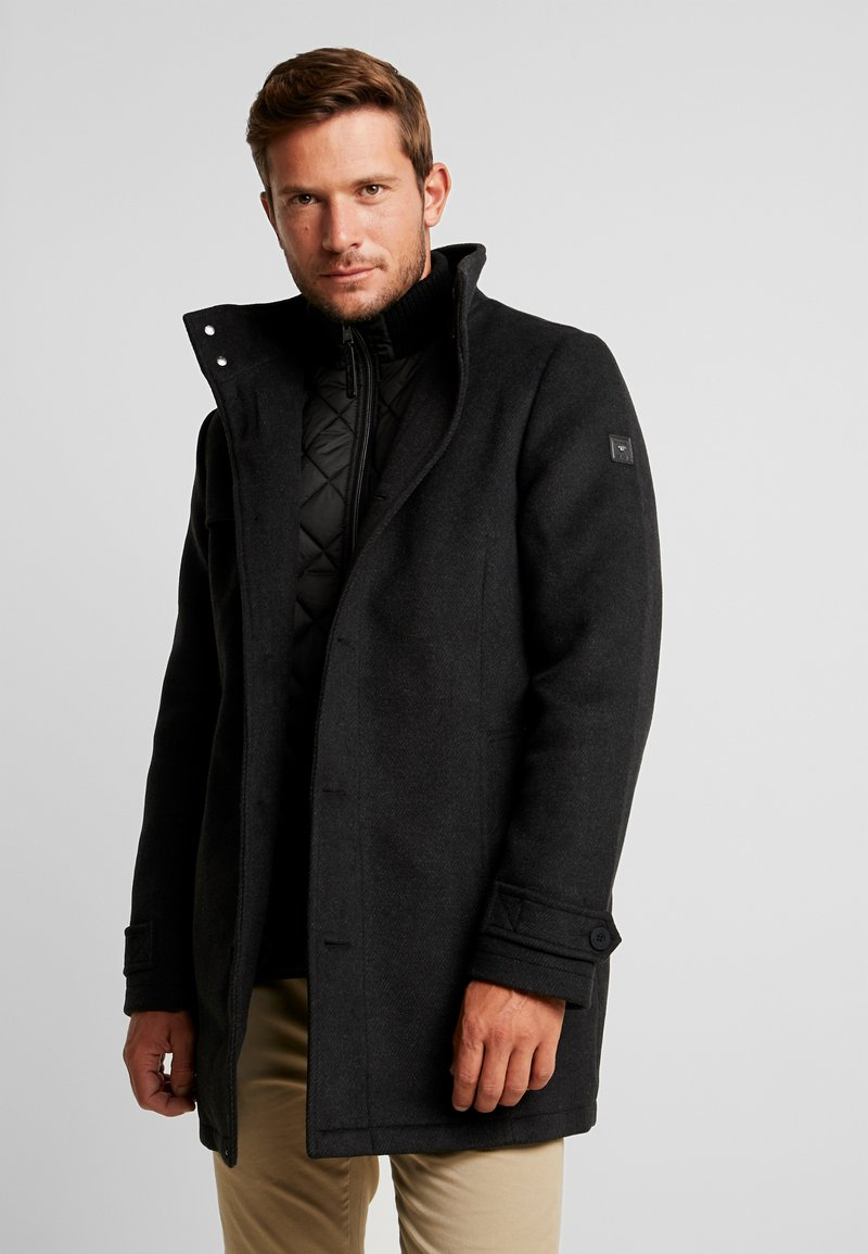 TOM TAILOR - 2 IN 1 - Classic coat - black/grey