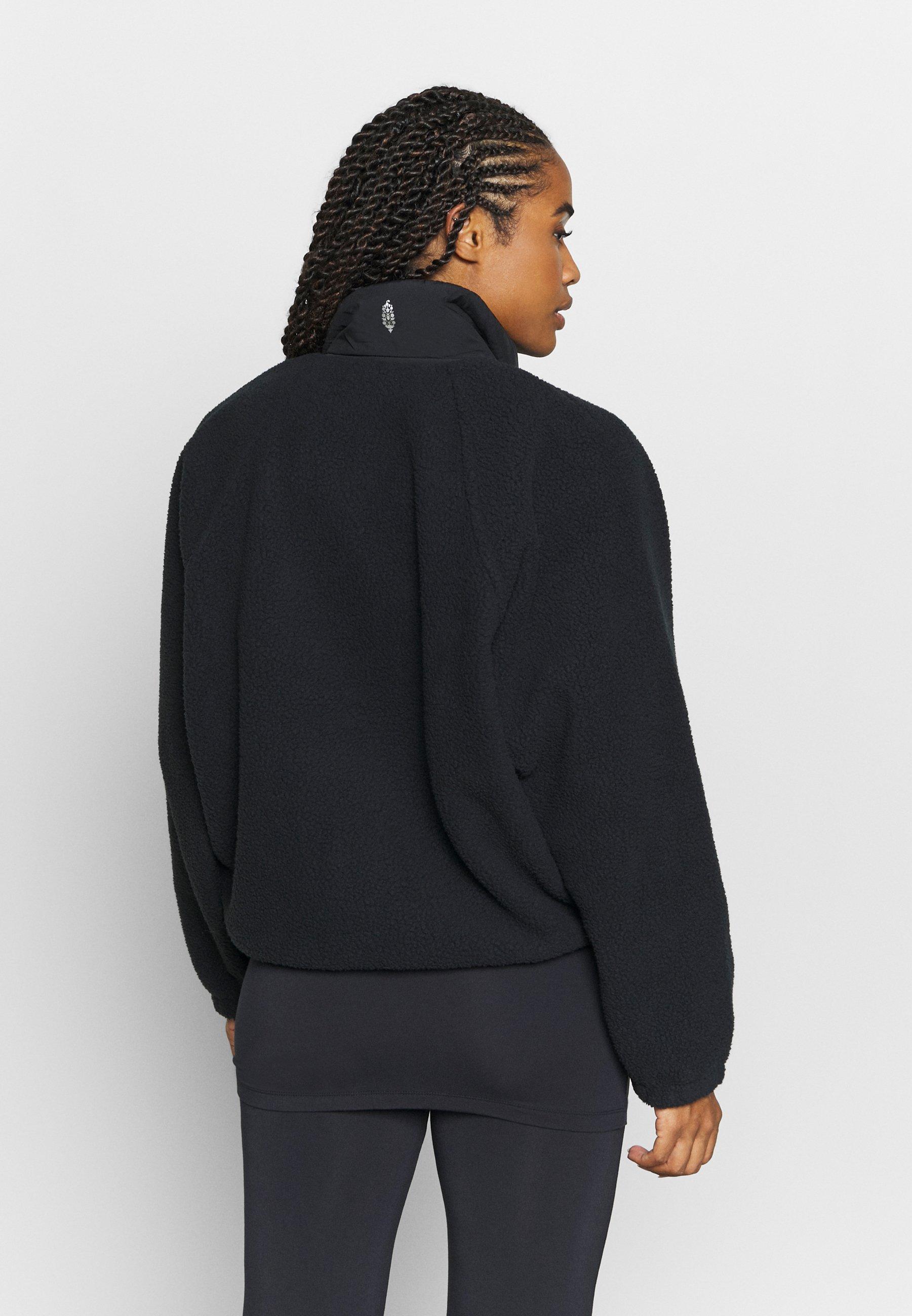 Free People HIT THE SLOPES JACKET - Fleece jacket - black V9fF3