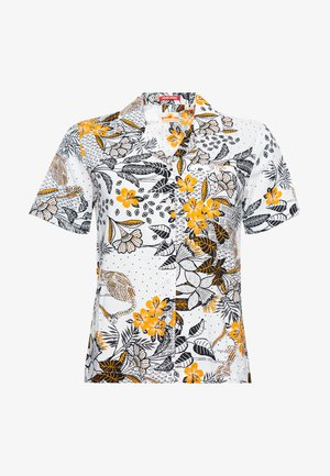 Button-down blouse - white aop