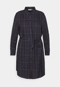 MY TRUE ME TOM TAILOR - BELTED CHECKED DRESS - Shirt dress - navy gipsy/camel - 7