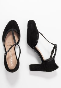 Tamaris - WOMS SLIP-ON - Platform heels - black - 3