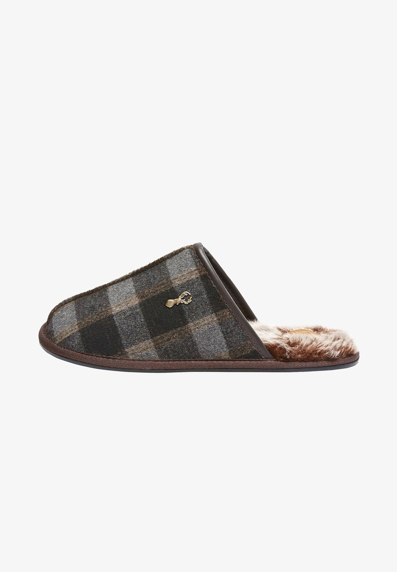 Next - MODERN HERITAGE CHECK - Slippers - brown