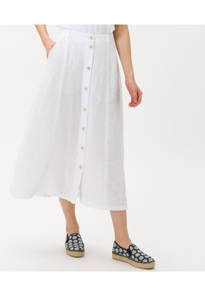 STYLE KELLY - Jupe trapèze - white