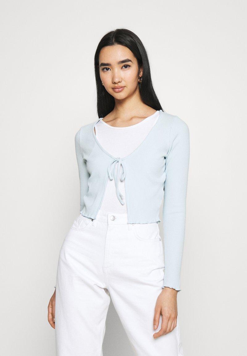 Cotton On - VIVVY TIE FRONT - Kofta - daisy blue