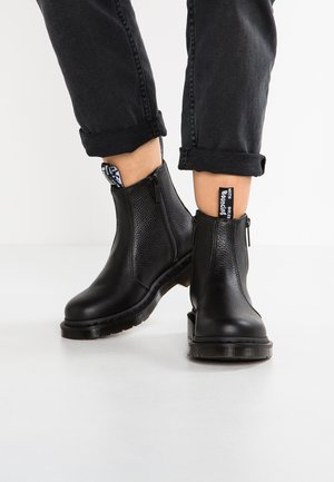 2976 W/ZIPS CHELSEA BOOT - Bottines - black
