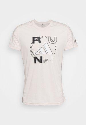 LOGO GRAPHICS AEROREADY - Print T-shirt - offwhite