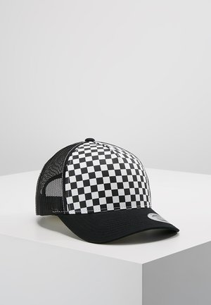 CHECKERBOARD RETRO TRUCKER - Casquette - black/white