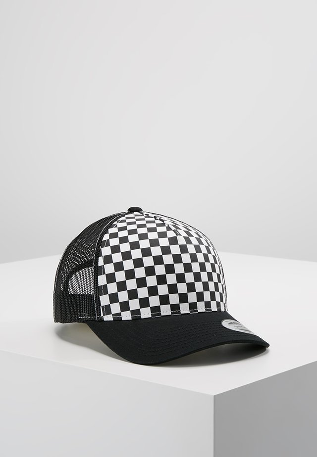 CHECKERBOARD RETRO TRUCKER - Kšiltovka - black/white