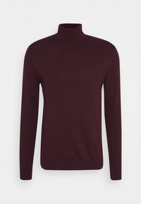 Selected Homme - SLHBERG ROLL NECK - Jumper - winetasting melange - 3