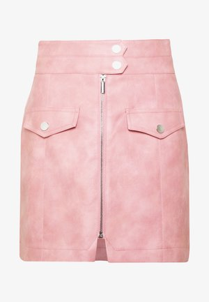 ZIP THRU  - Mini skirt - pink