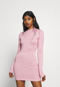 Missguided Petite - PUFF SLEEVE MINI DRESS - Shift dress - rose - 0