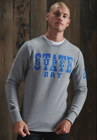 Superdry - TRACK & FIELD CLASSIC CREW - Sweater - soft grey marl - 1