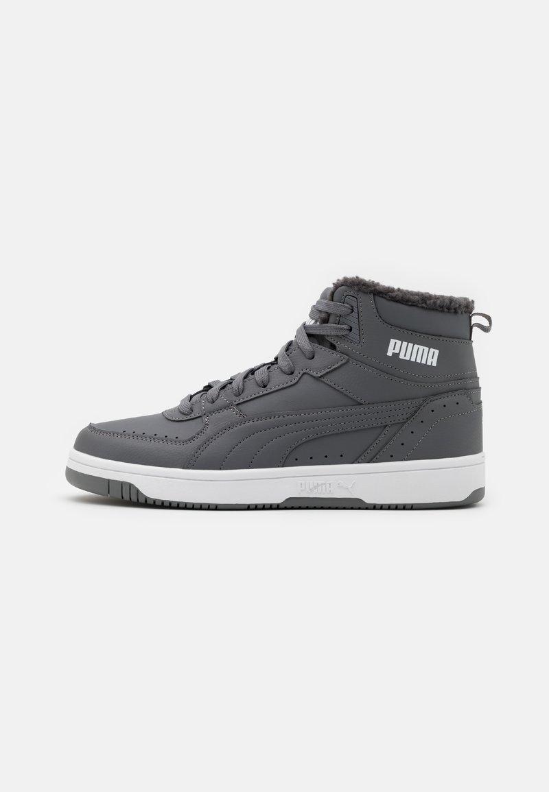 Puma - REBOUND JOY UNISEX - Sneakers high - castlerock/white