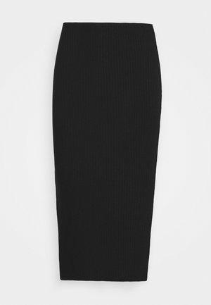 PLUS MIDI SKIRT - Pencil skirt - black