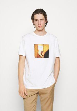 DOORBELL PRINT UNISEX - T-shirt z nadrukiem - white