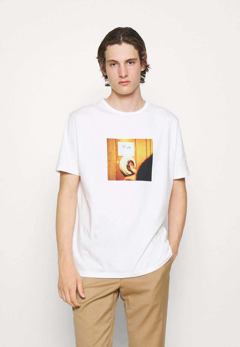 Paul Smith - DOORBELL PRINT UNISEX - T-shirt z nadrukiem - white