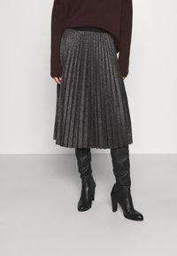 iBlues - DERRIS - A-line skirt - grigio ardesia - 0