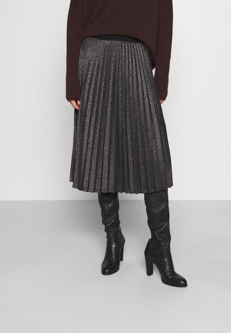iBlues - DERRIS - A-line skirt - grigio ardesia