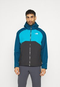 The North Face - MENS STRATOS JACKET - Hardshell jacket - anthracite/teal/blue - 0