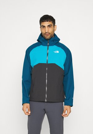 MENS STRATOS JACKET - Hardshell jacket - anthracite/teal/blue