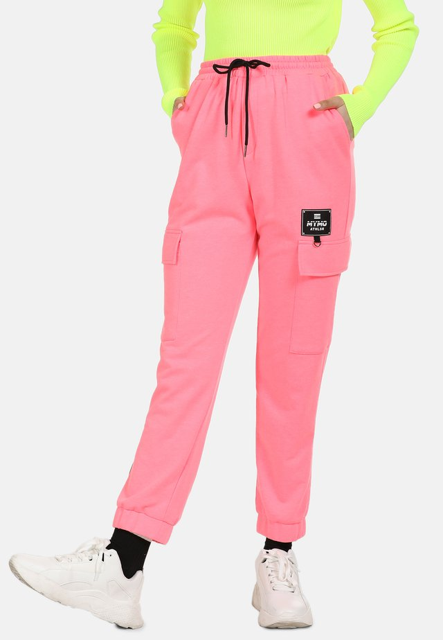 Tracksuit bottoms - neon pink