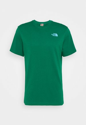 MESSAGE TEE - T-shirt imprimé - green