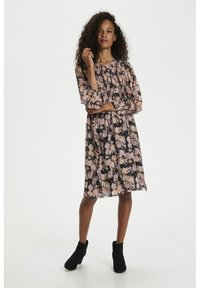 Part Two - Day dress - winter rose print black - 1