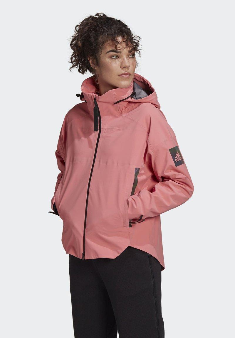 adidas Performance - Waterproof jacket - pink