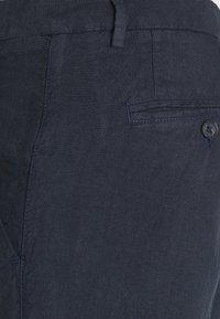 120% Lino - TROUSERS - Broek - blue navy - 4