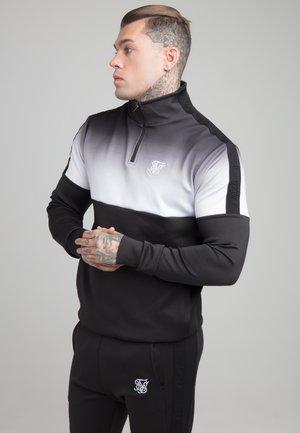 FADE ZIP - Maglietta a manica lunga - black/white