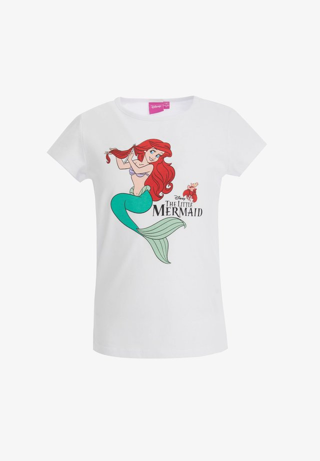 DISNEY LITTLE MERMAID - T-shirt imprimé - white