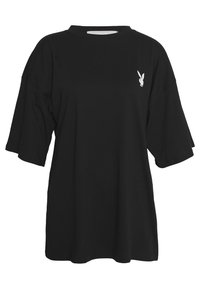 Missguided - PLAYBOY MISSION STATEMENT OVERSIZED - Camiseta estampada - black/white - 1