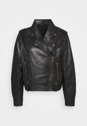 BOISE - Kožená bunda - schwarz