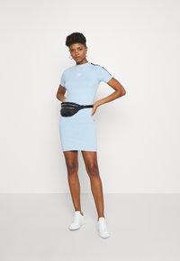 SIKSILK - SKY TAPE BODYCON DRESS - Jersey dress - light blue - 1