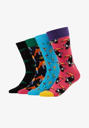ANIMAL GIFT BOX 4 PACK - Socks - multi-coloured