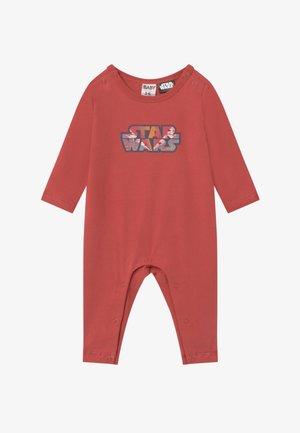 LONG SLEEVE SNAP ROMPER - Pyjama - red brick