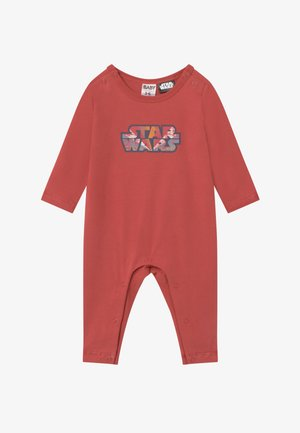 LONG SLEEVE SNAP ROMPER - Pyžamo - red brick