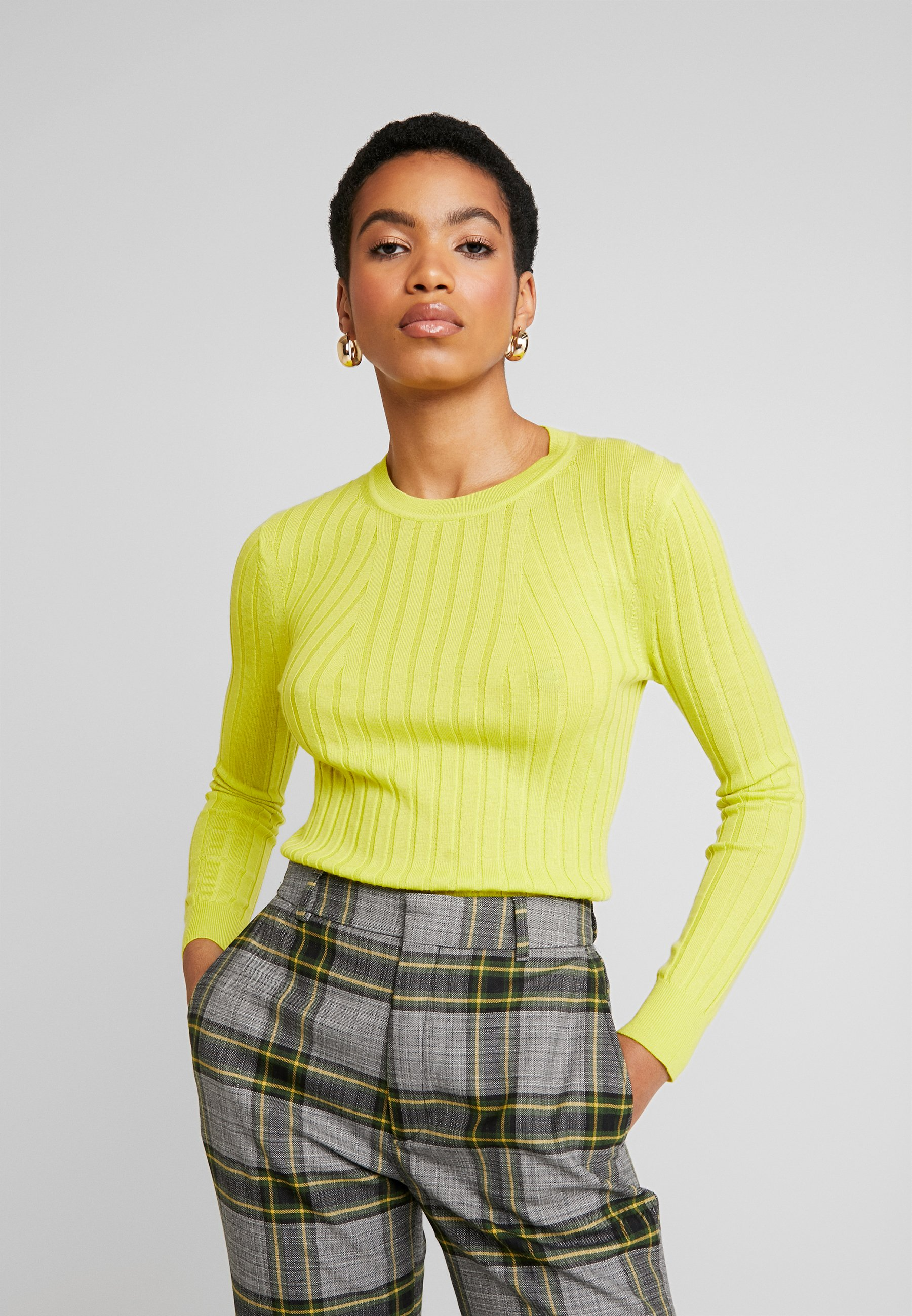 Banana Republic CREW - Pullover - neon yellow - Pulls & Gilets Femme l1yIA
