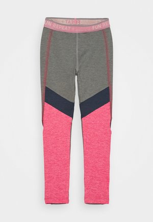 COLOR BLOCK - Leggings - monument melange