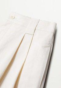 Mango - MINT - Spodnie materiałowe - ecru - 7