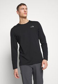 The North Face - MENS EASY TEE - Bluzka z długim rękawem - black/zinc grey - 0