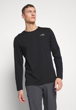 EASY TEE - Long sleeved top - black/zinc grey