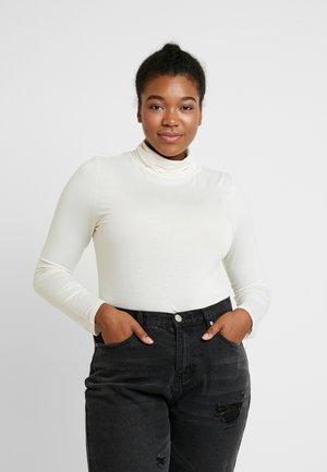 SIDE SPLIT ROLL NECK - Bluzka z długim rękawem - off white