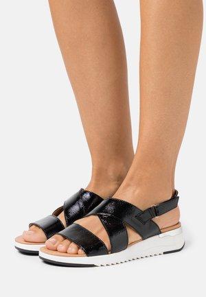 WOMS  - Wedge sandals - black