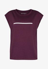 Even&Odd active - T-shirt med print - dark red - 4