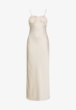 LUXE DOT RUCHED CAMI DRESS - Długa sukienka - champagne polka