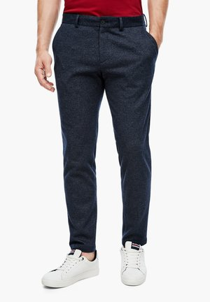 Trousers - dark blue check