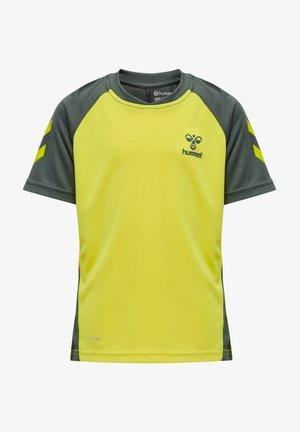 ACTION  - Print T-shirt - sulphur spring/turbulence
